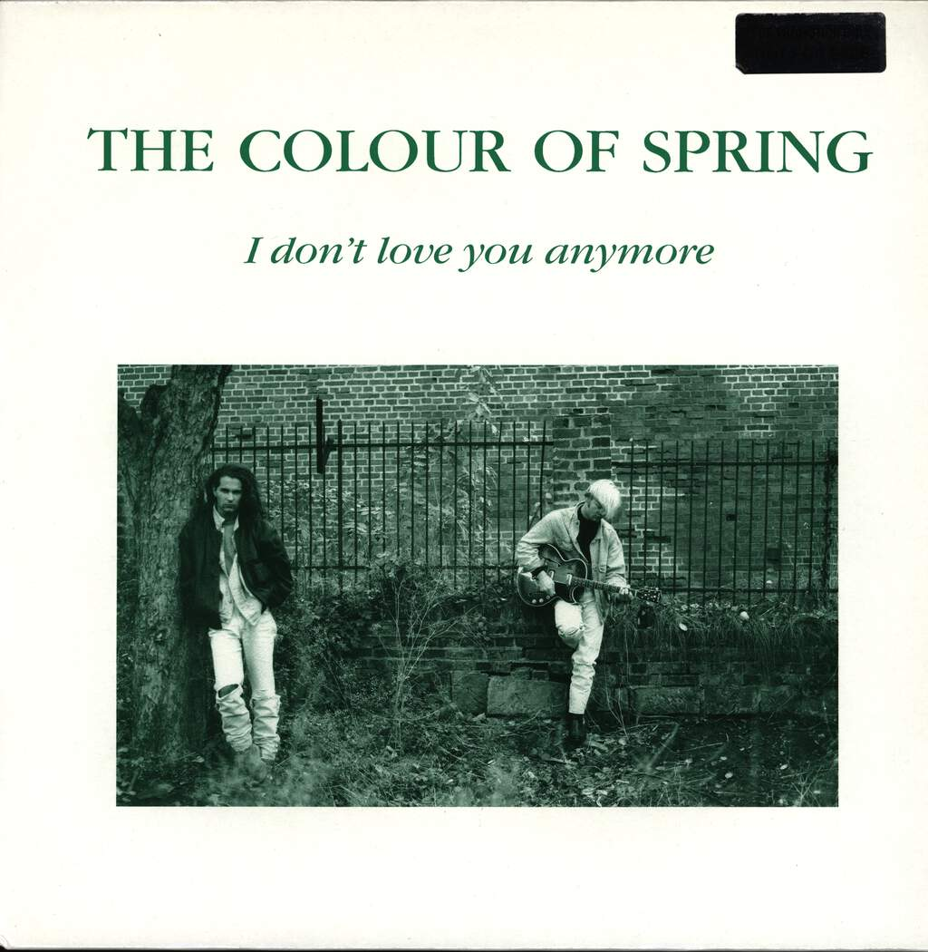 "The Colour Of Spring: I Don't Love You Anymore, 12"" Maxi Single (Vinyl)"