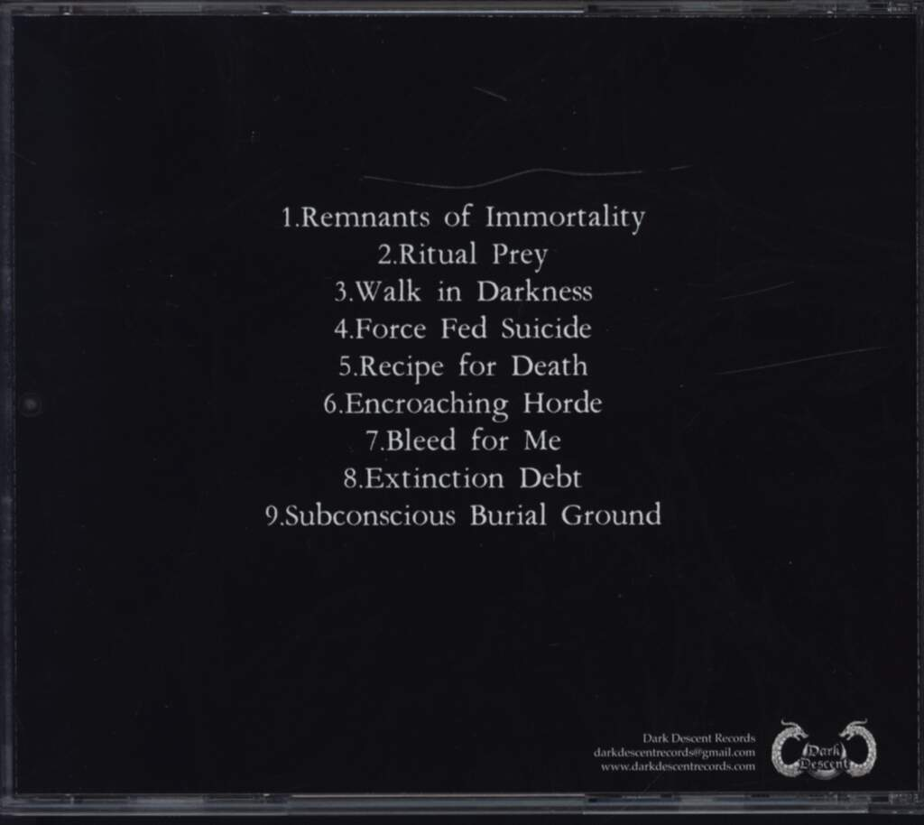 Eternal Solstice: Remnants Of Immortality, CD