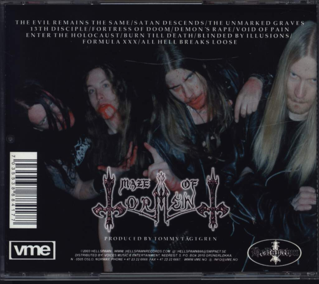 Maze Of Torment: The Unmarked Graves, CD