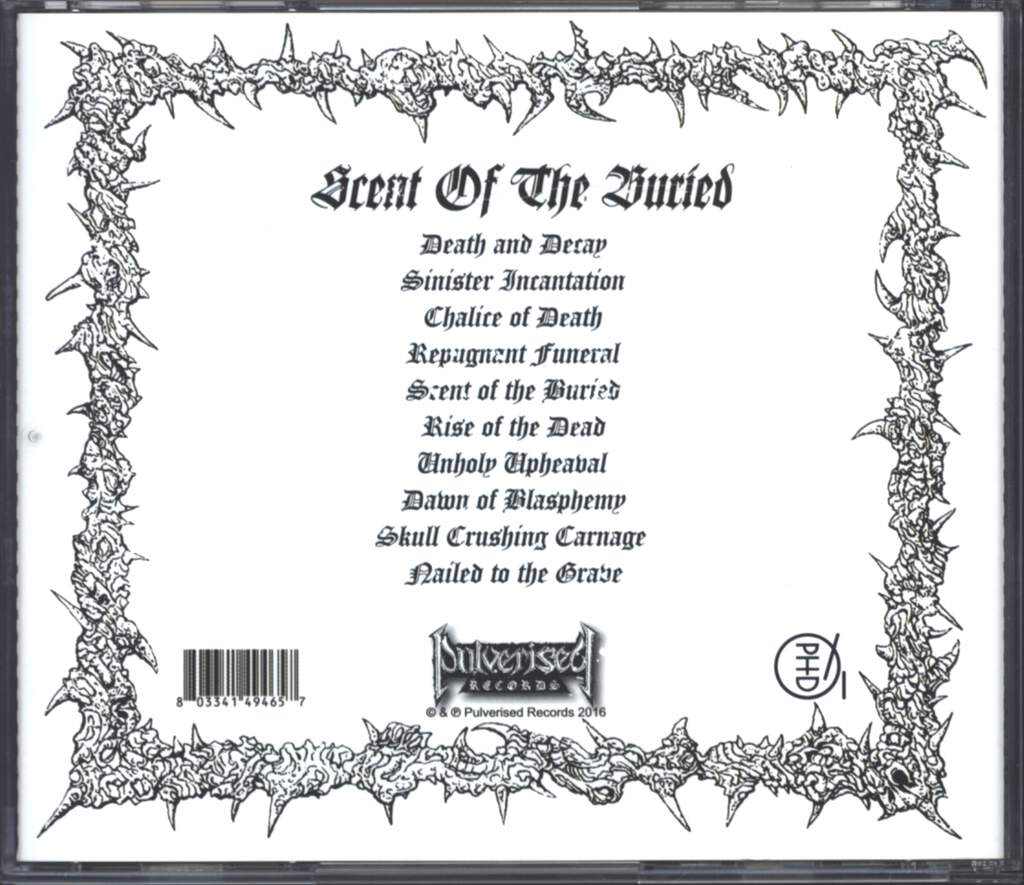 Interment: Scent Of The Buried, CD