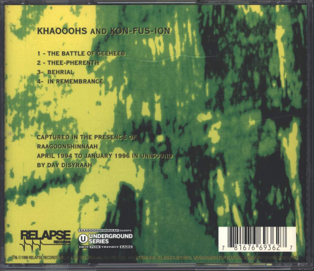 Pan-Thy-Monium: Khaooohs And Kon-Fus-Ion, Mini CD