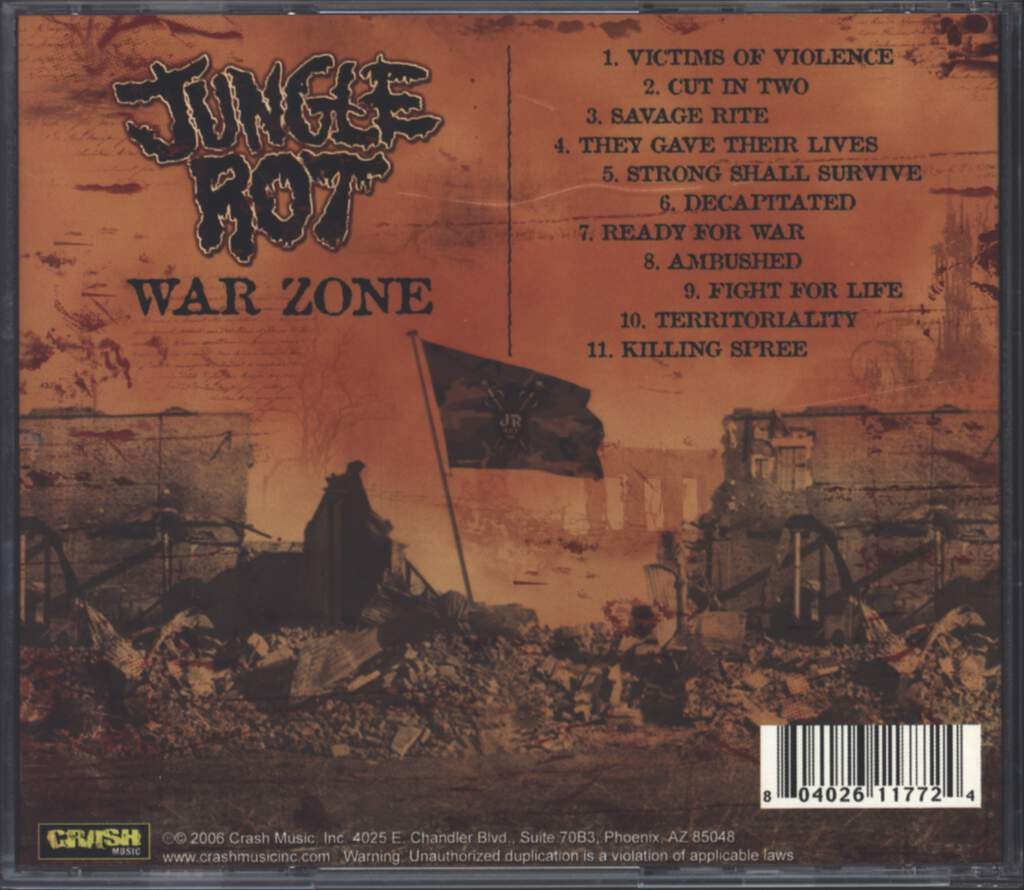 Jungle Rot: War Zone, CD