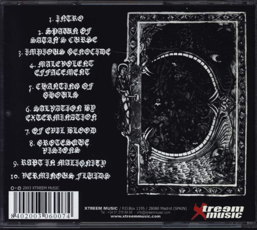 Verminous: Impious Sacrilege, CD