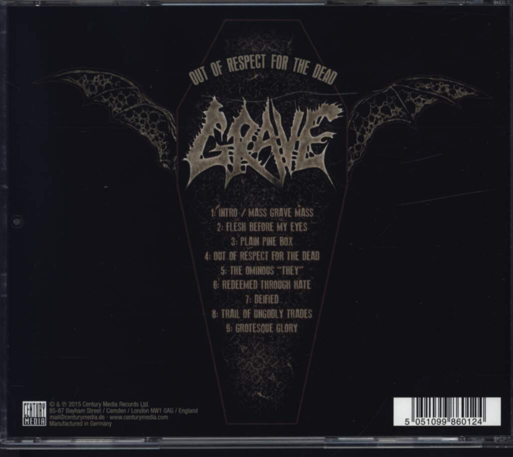 Grave: Out Of Respect For The Dead, CD
