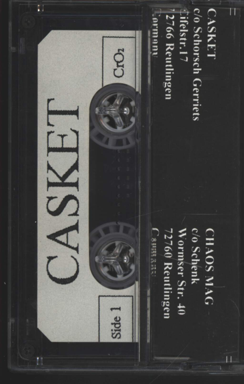 Casket: Meant To Be Dead, Compact Cassette