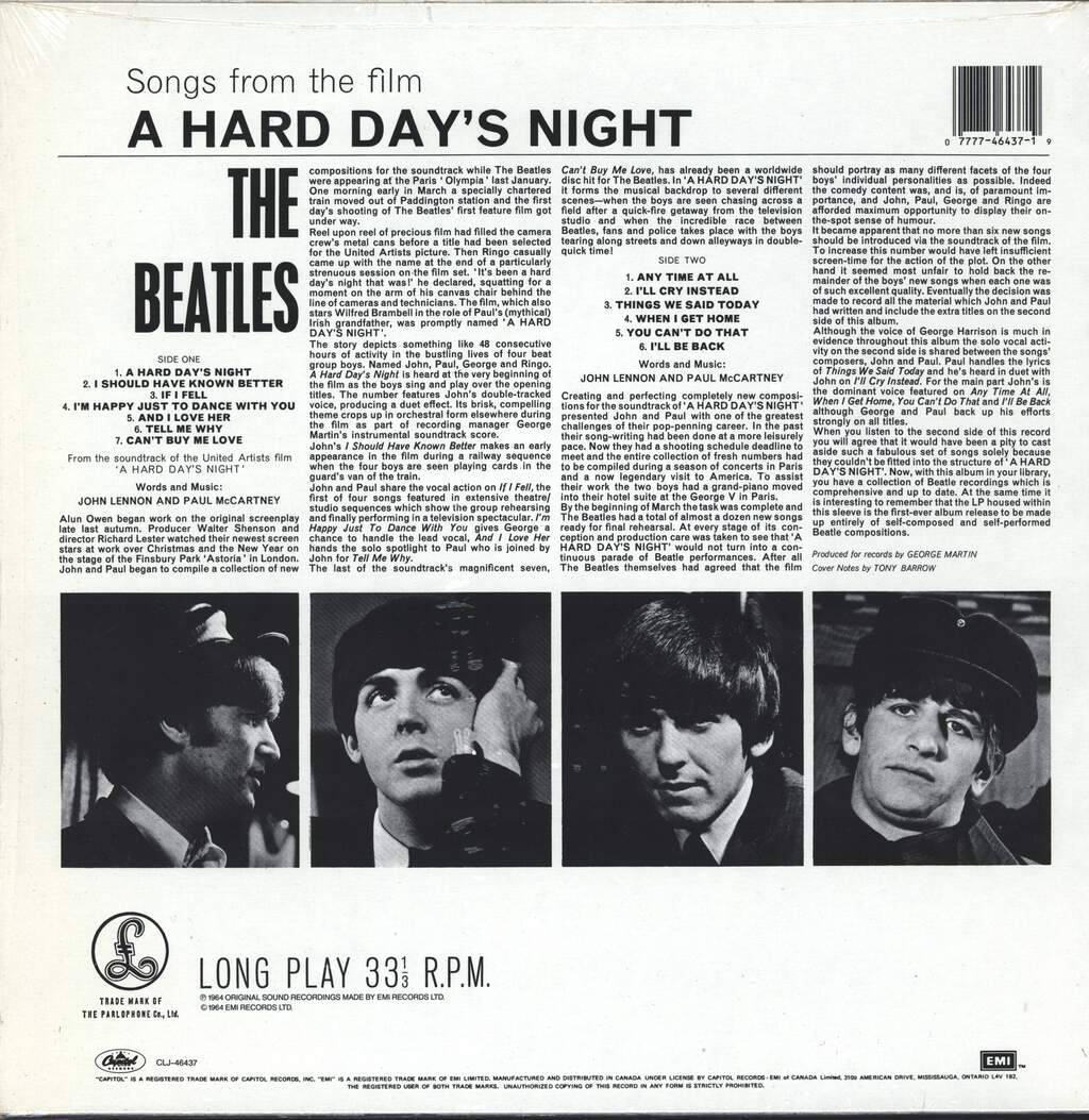 The Beatles: A Hard Day's Night, LP (Vinyl)