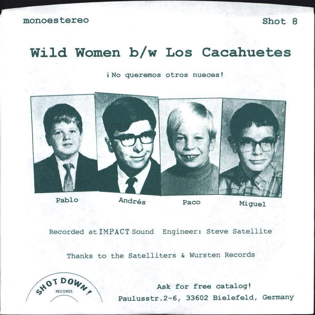 "Los Cacahuetes: Wild Women, 7"" Single (Vinyl)"