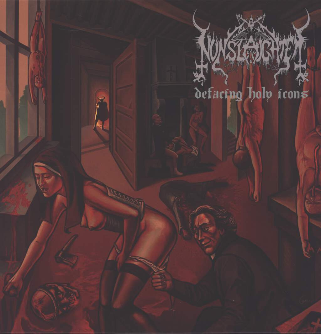 Nunslaughter: Defacing Holy Icons / Throne Of Sluts, Mini LP (Vinyl)