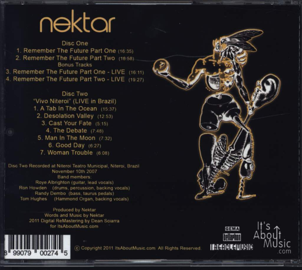 Nektar: Remember The Future, CD