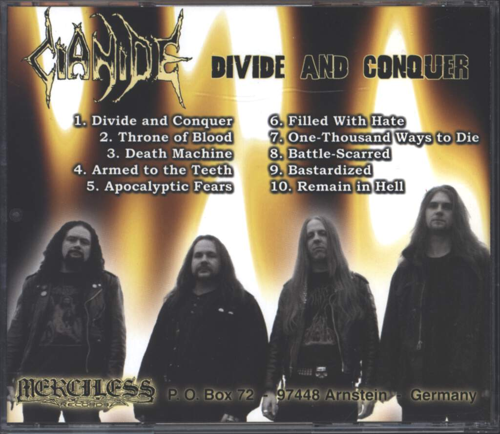 Cianide: Divide And Conquer, CD
