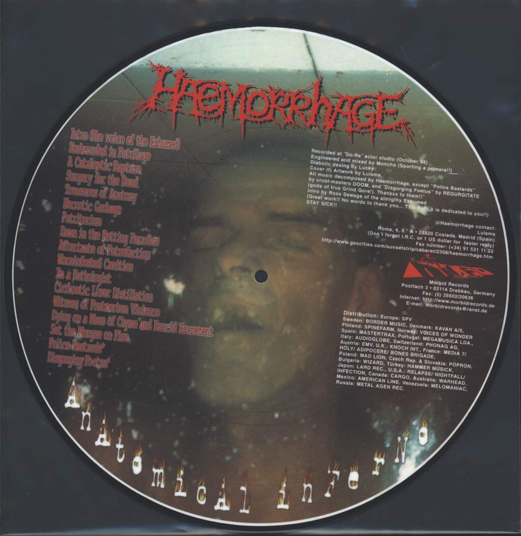 Haemorrhage: Anatomical Inferno, LP (Vinyl)