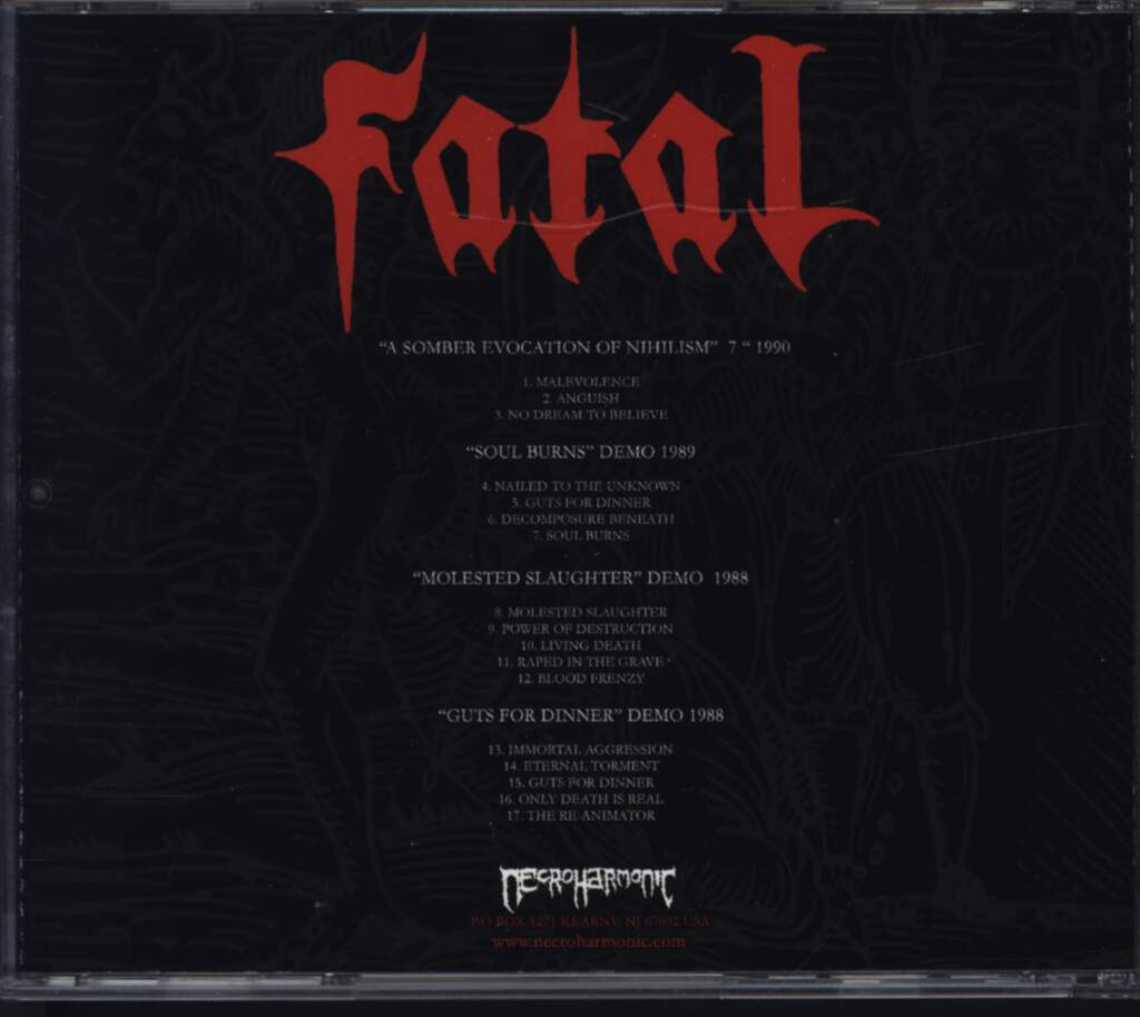 Fatal: Retrospective From Hell, CD