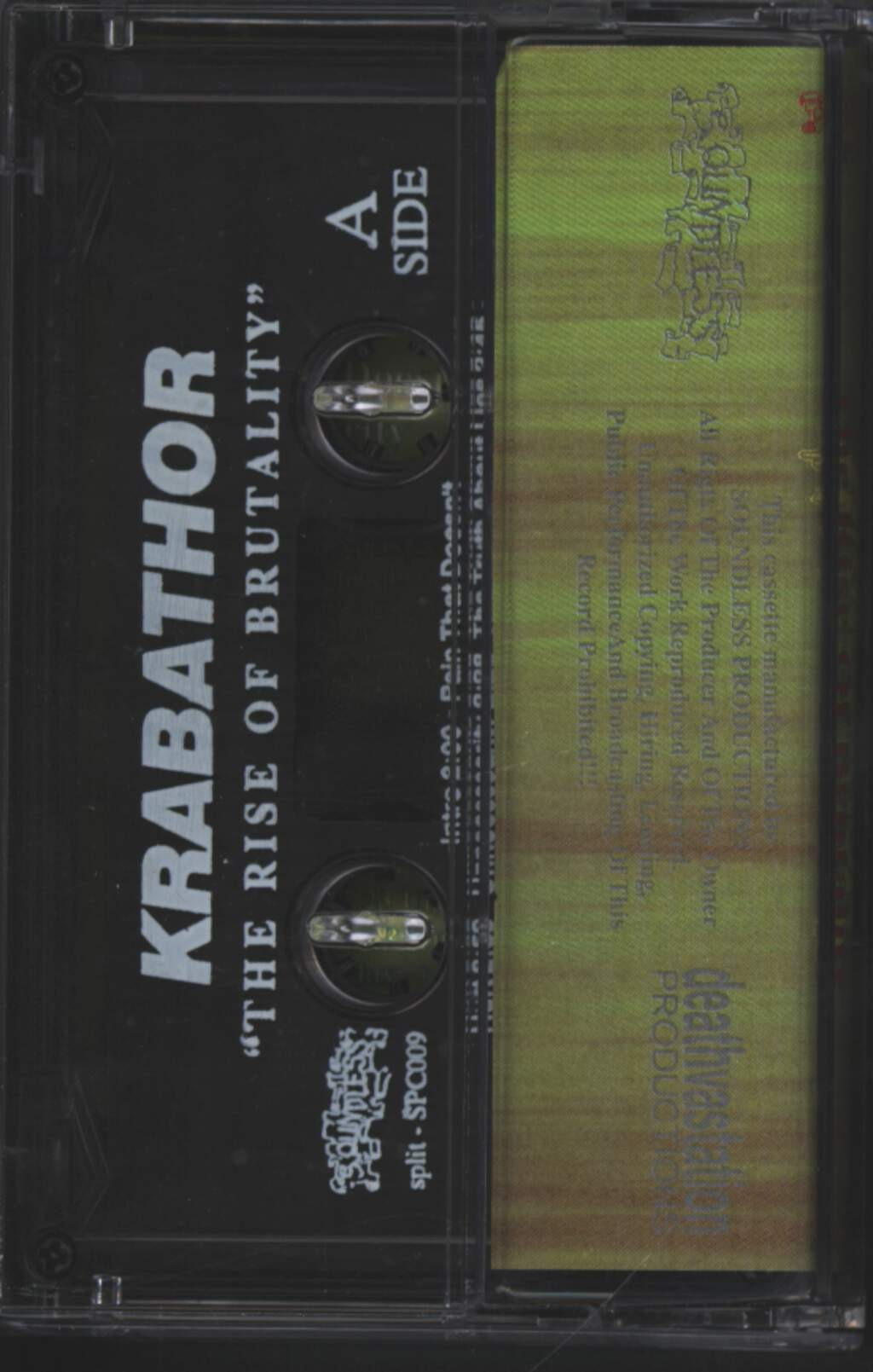 Krabathor: The Rise Of Brutality / Pain, Compact Cassette