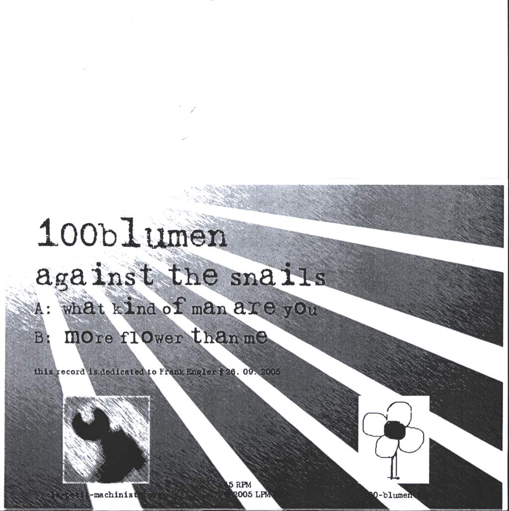 "100blumen: Against The Snails, 7"" Single (Vinyl)"