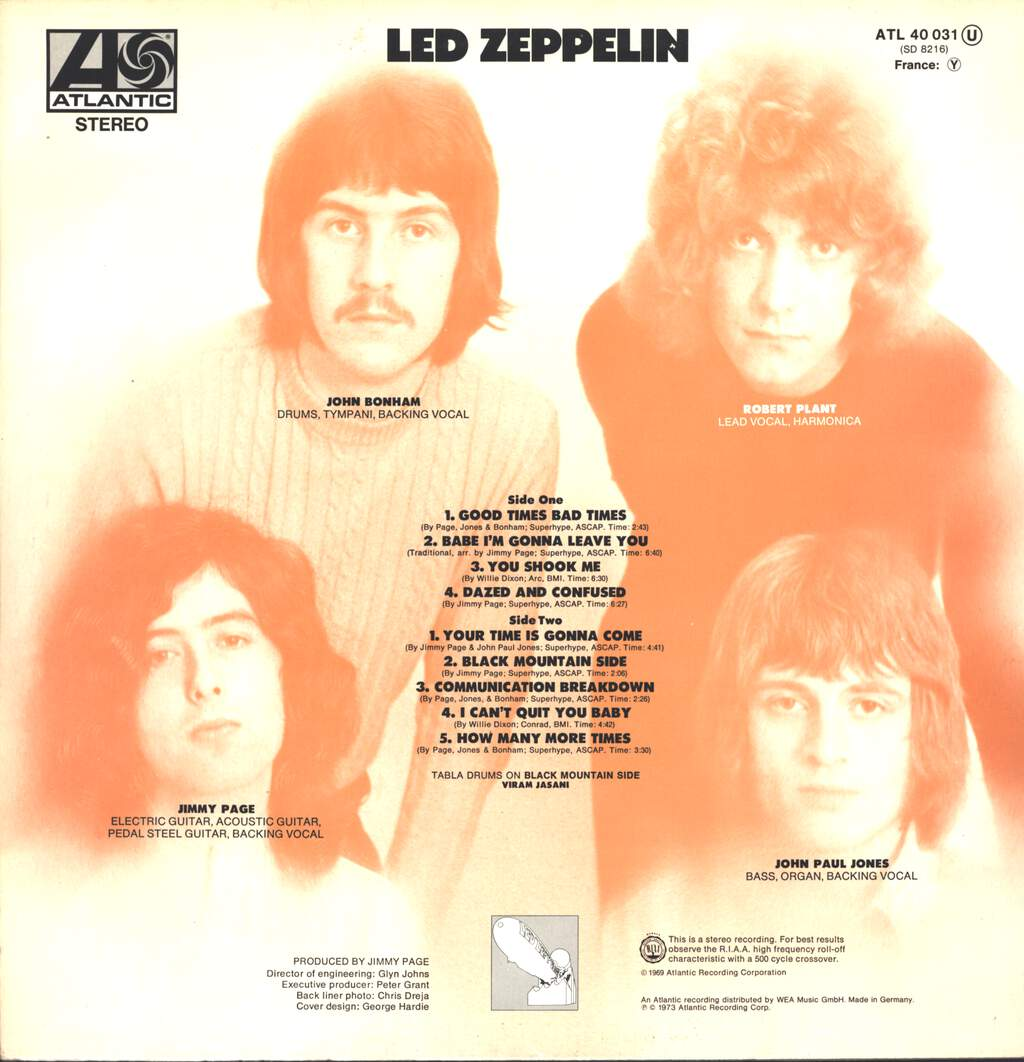 Led Zeppelin: Led Zeppelin, LP (Vinyl)