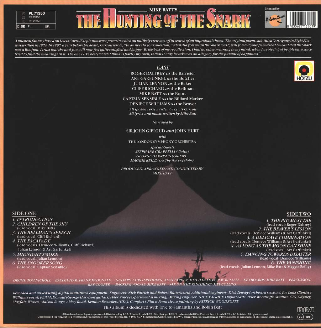 Mike Batt: The Hunting Of The Snark, LP (Vinyl)