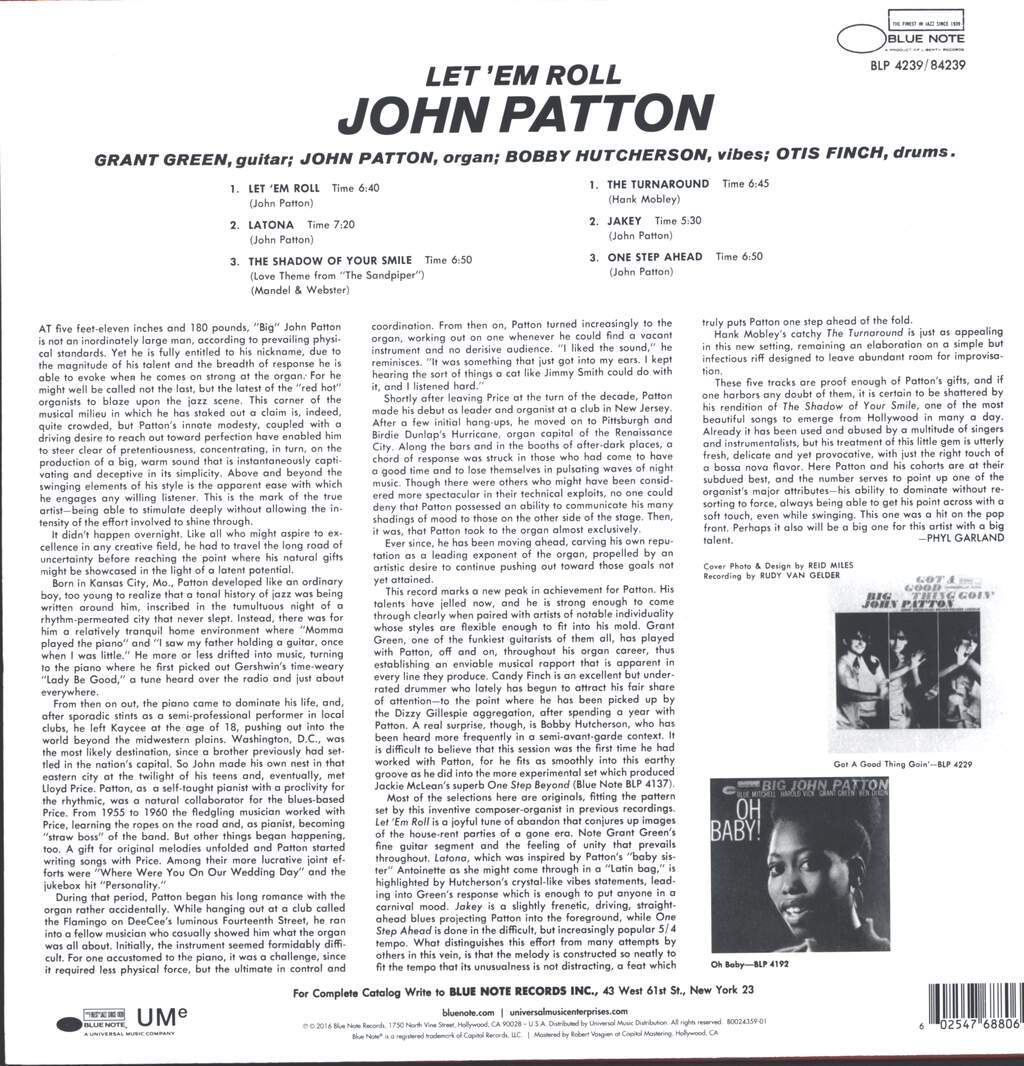 John Patton: Let 'Em Roll, LP (Vinyl)