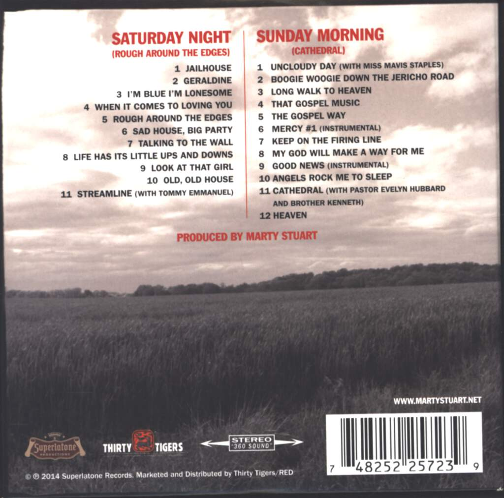 Marty Stuart And His Fabulous Superlatives: Saturday Night/Sunday Morning, CD