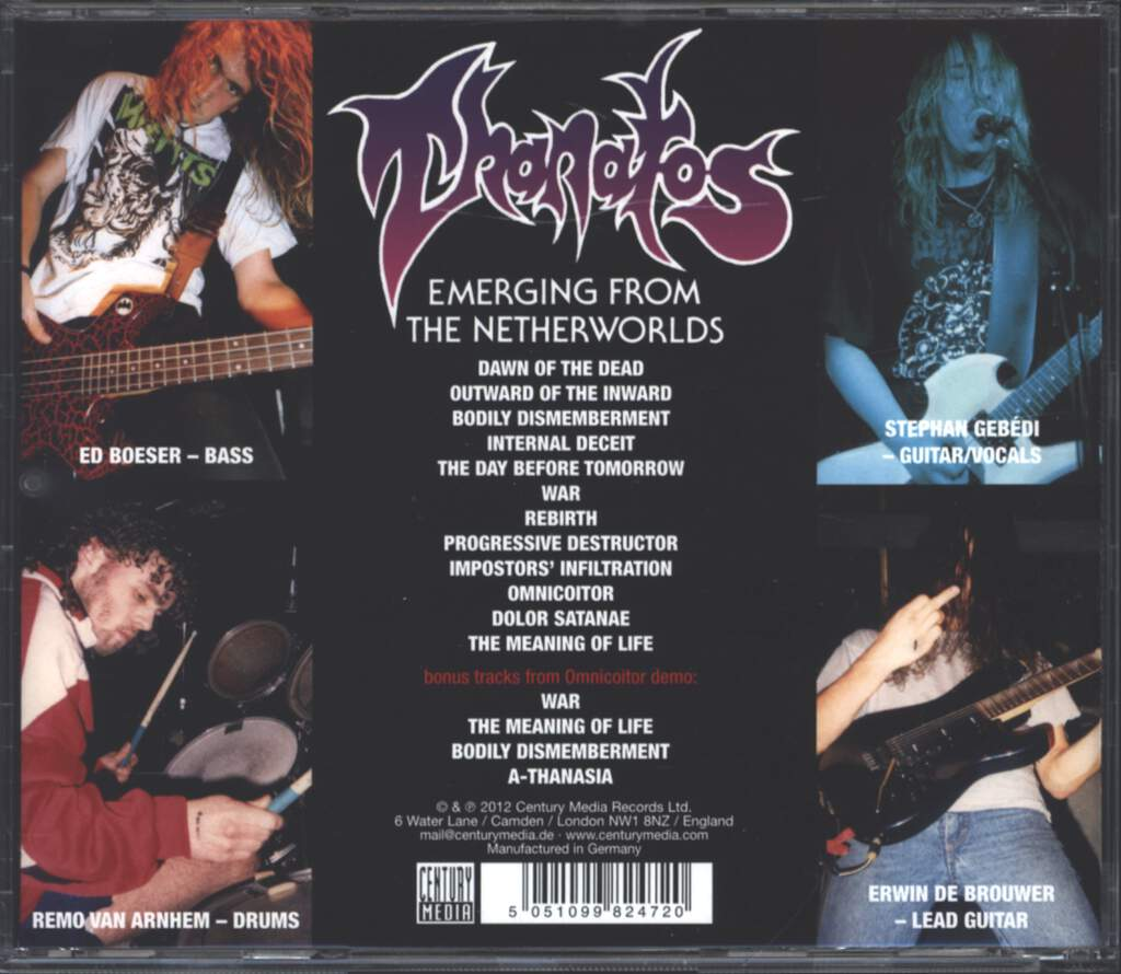 Thanatos: Emerging From The Netherworlds, CD