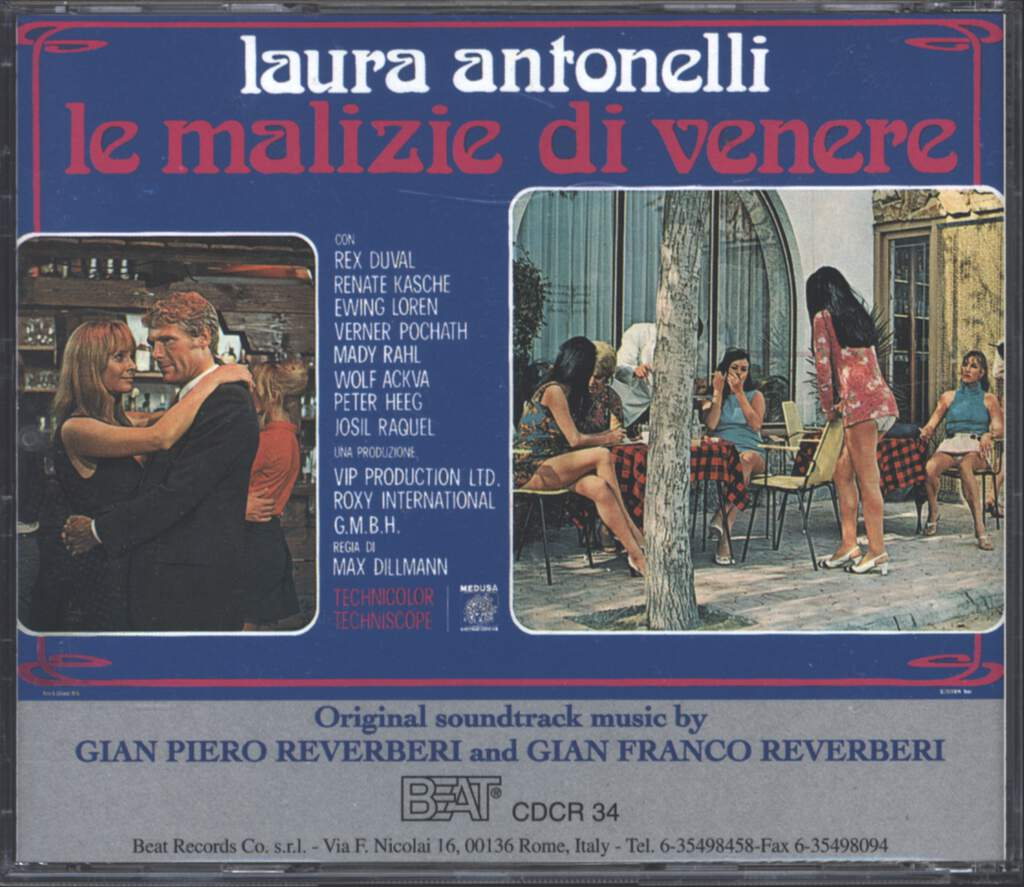 Gian Piero Reverberi: Le Malizie Di Venere / 28 Minuti Per 3 Milioni Di Dollari / Hypnos - Follia Di Massacro (Original Soundtrack Music From The Films), CD