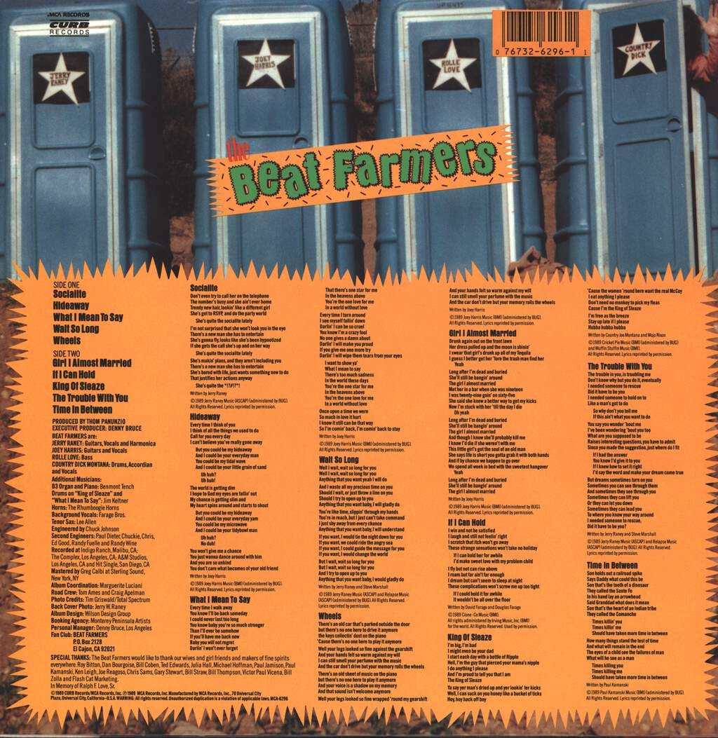 The Beat Farmers: Poor And Famous, LP (Vinyl)