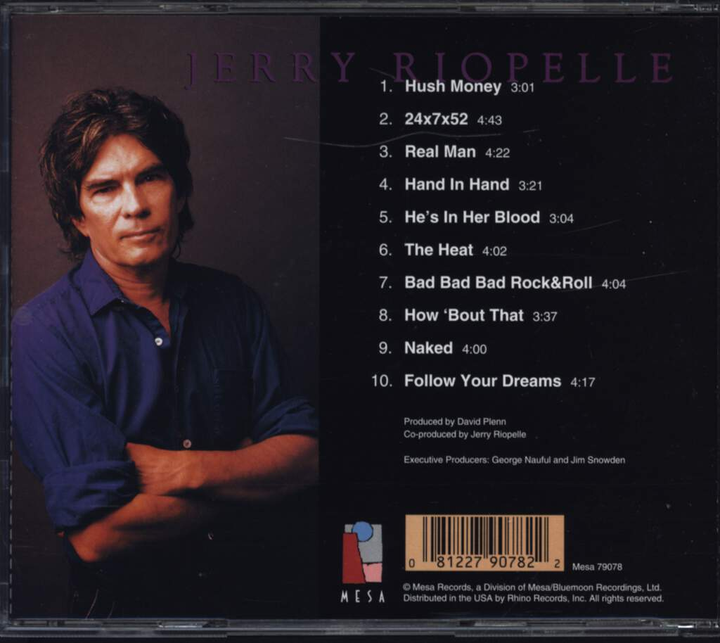 Jerry Riopelle: Hush Money, CD