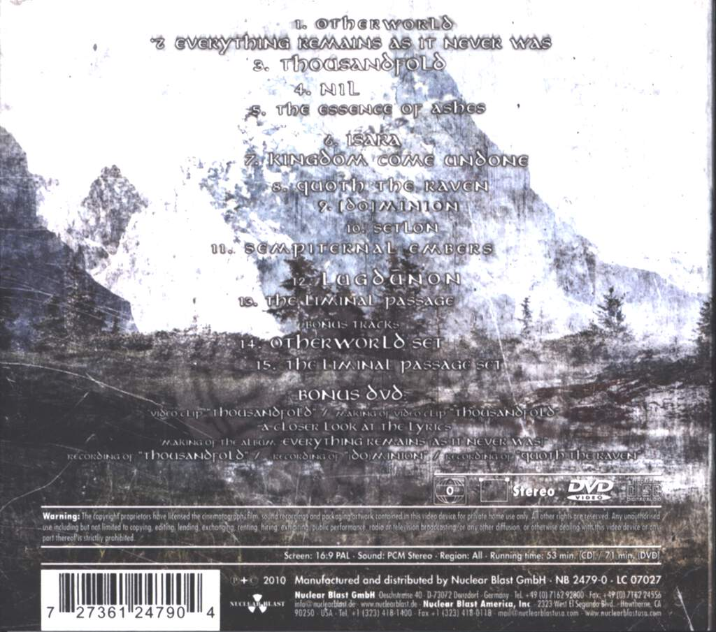 Eluveitie: Everything Remains As It Never Was, CD
