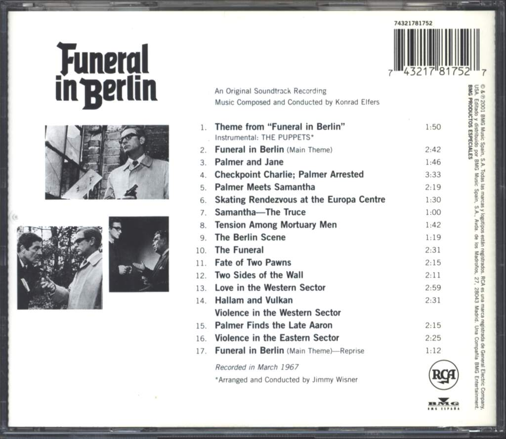 Konrad Elfers: Funeral In Berlin (An Original Soundtrack Recording), CD