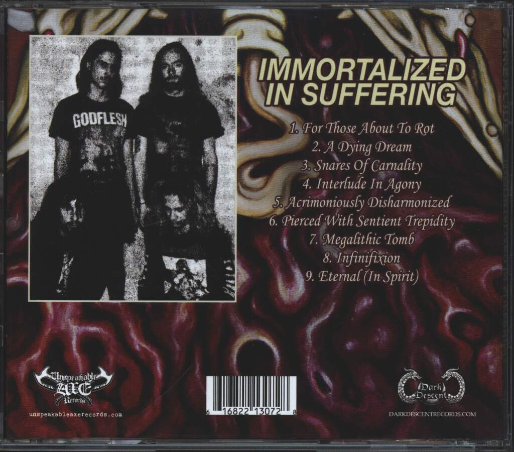 Sewercide: Immortalized In Suffering, CD