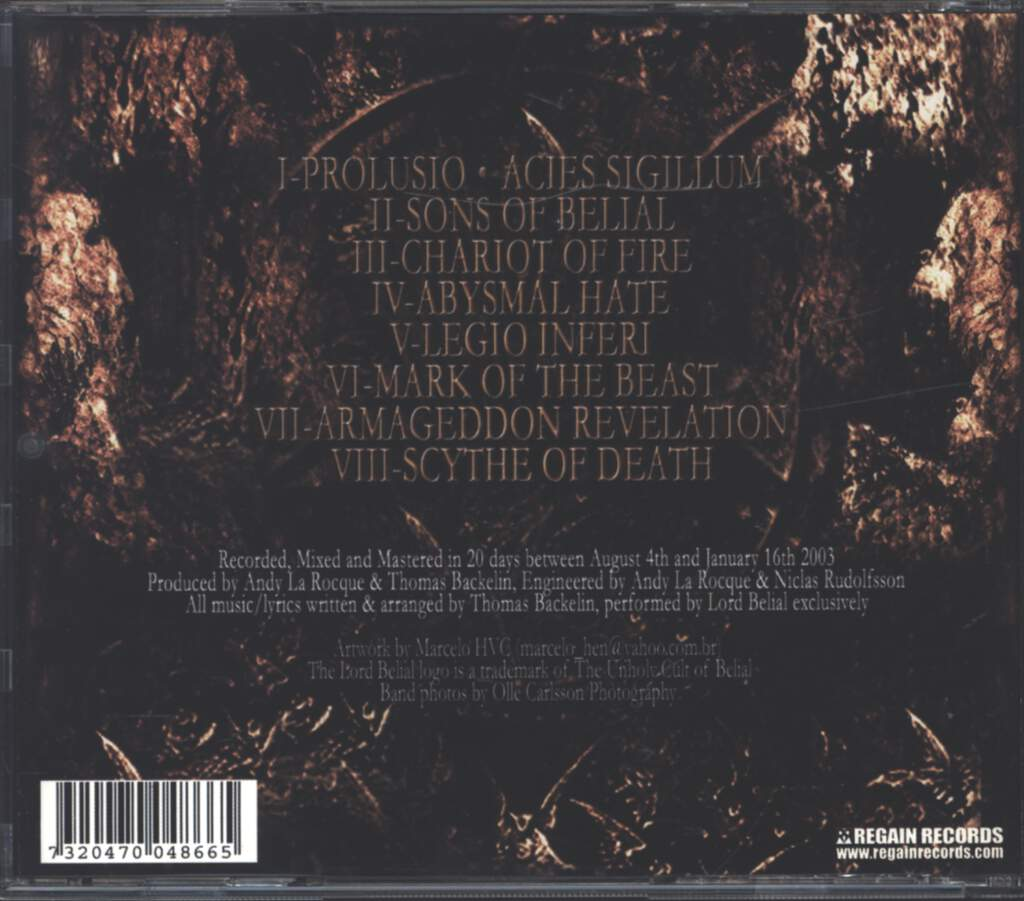 Lord Belial: The Seal Of Belial, CD