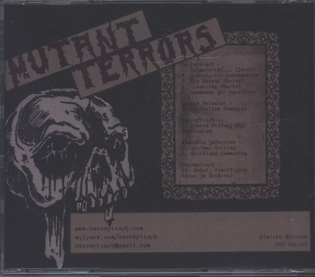 Decrepitaph: Mutant Terrors, CD