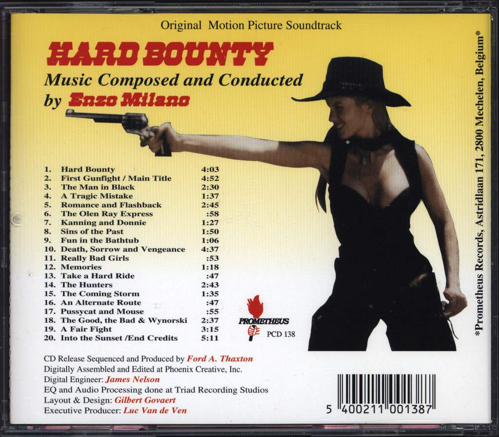 Enzo Milano: Hard Bounty (Original Motion Picture Soundtrack), CD