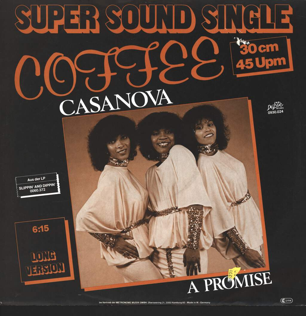 "Coffee: Casanova, 12"" Maxi Single (Vinyl)"