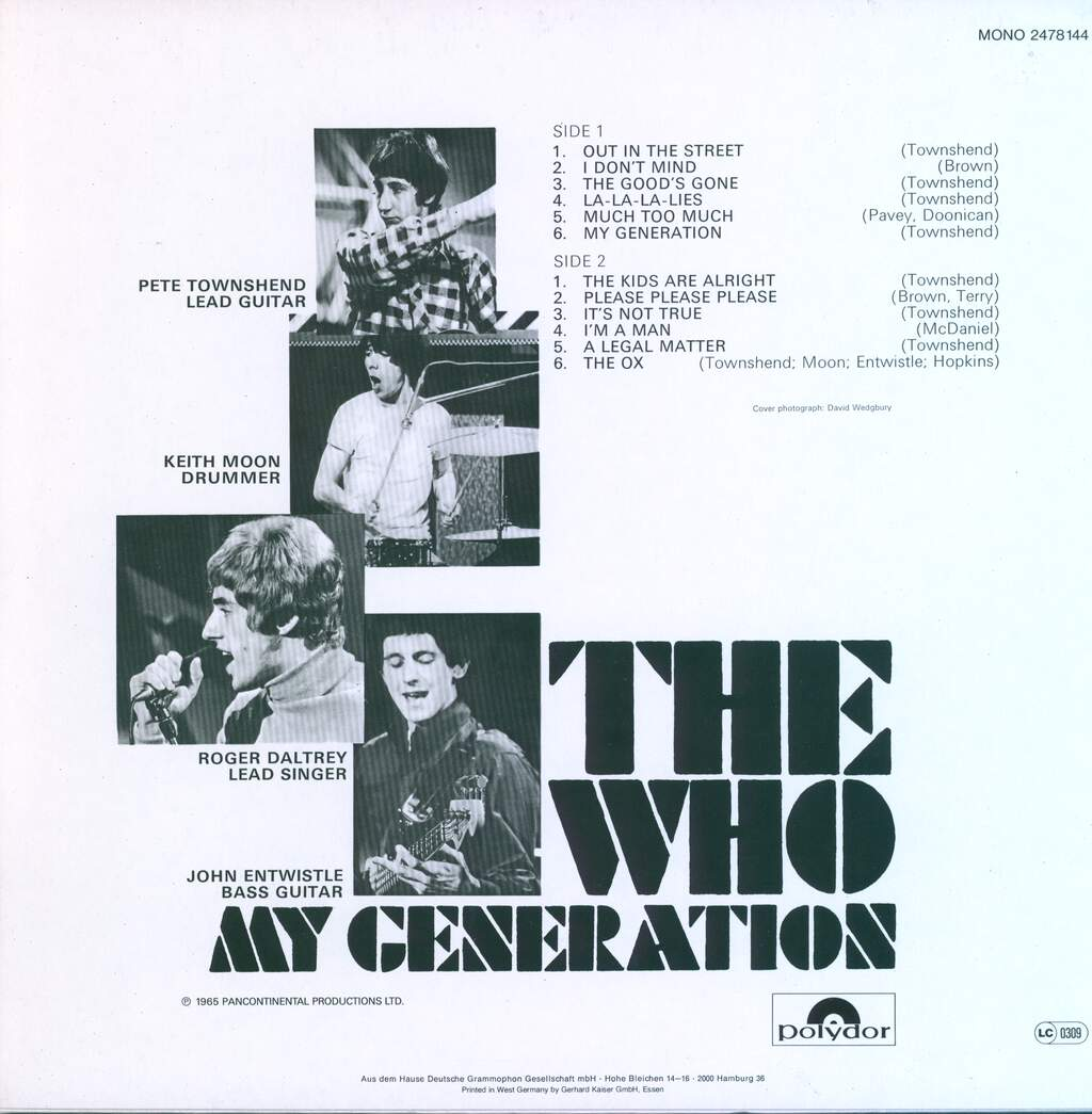 The Who: My Generation, LP (Vinyl)