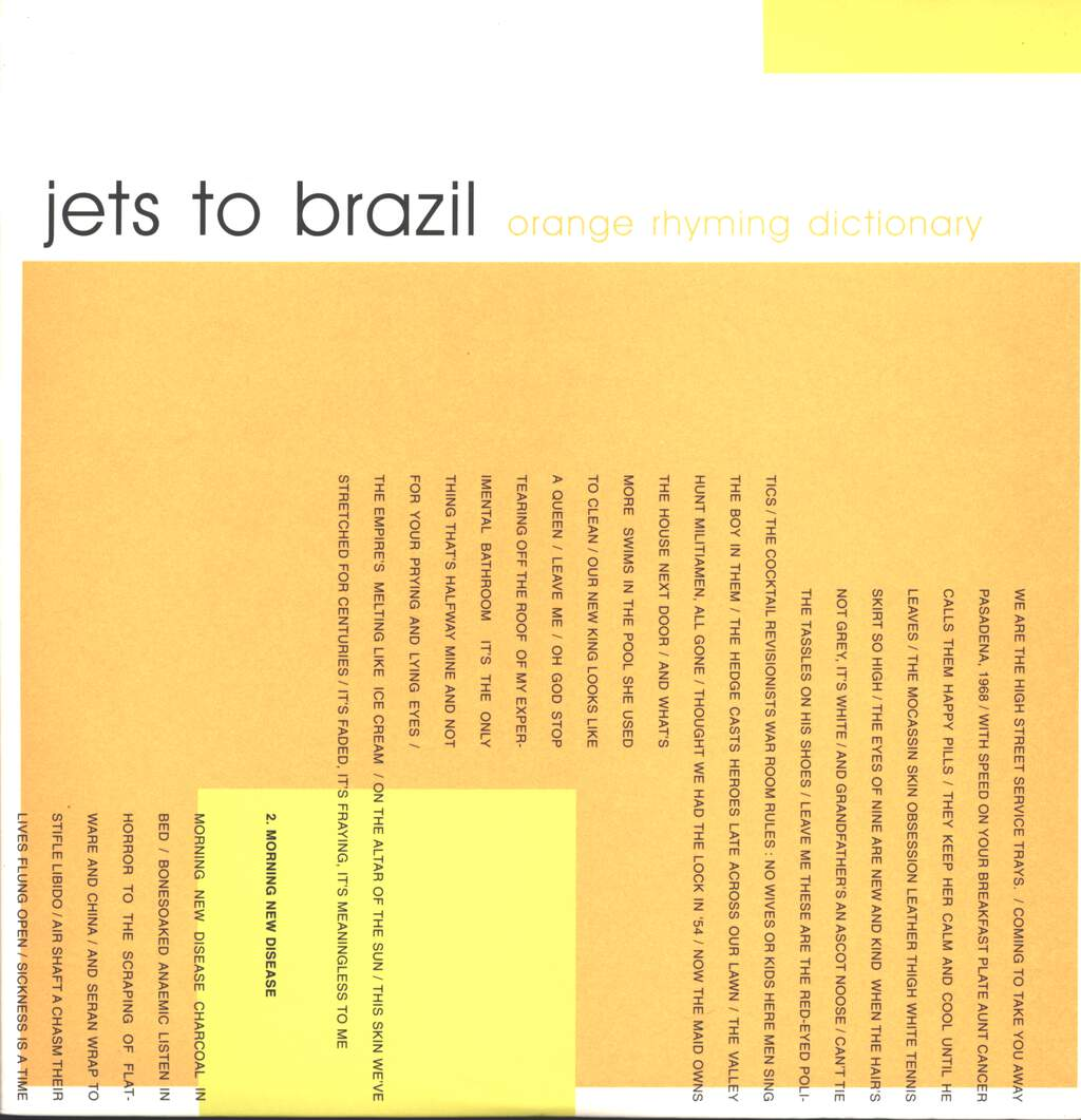 Jets To Brazil: Orange Rhyming Dictionary, LP (Vinyl)