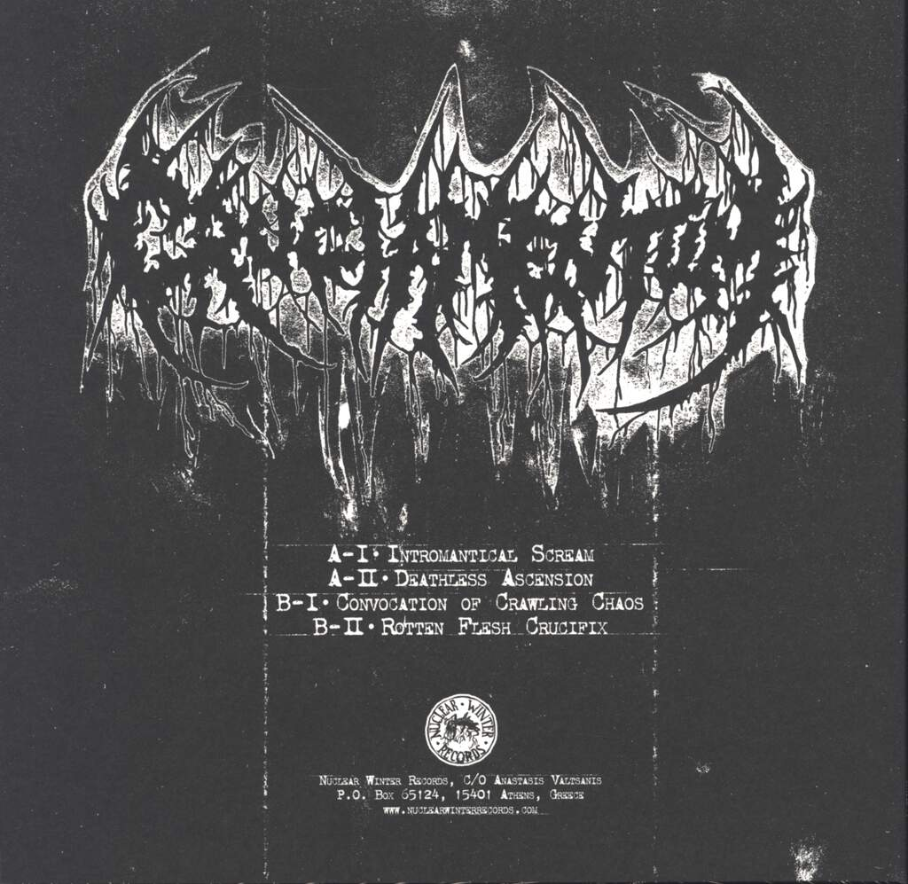 "Cruciamentum: Convocation Of Crawling Chaos, 10"" Vinyl EP"