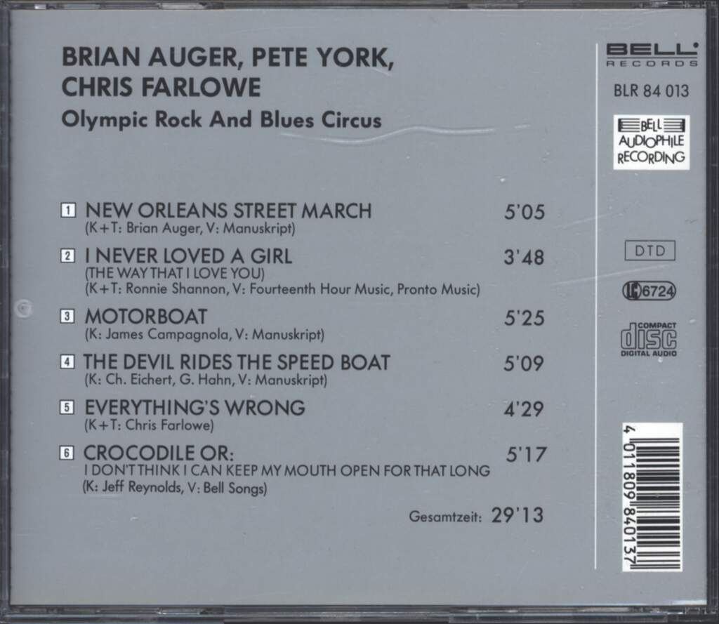 Chris Farlowe: Olympic Rock & Blues Circus, CD