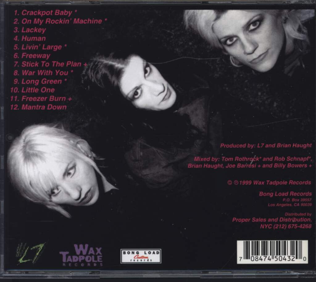 L7: Slap-Happy, CD