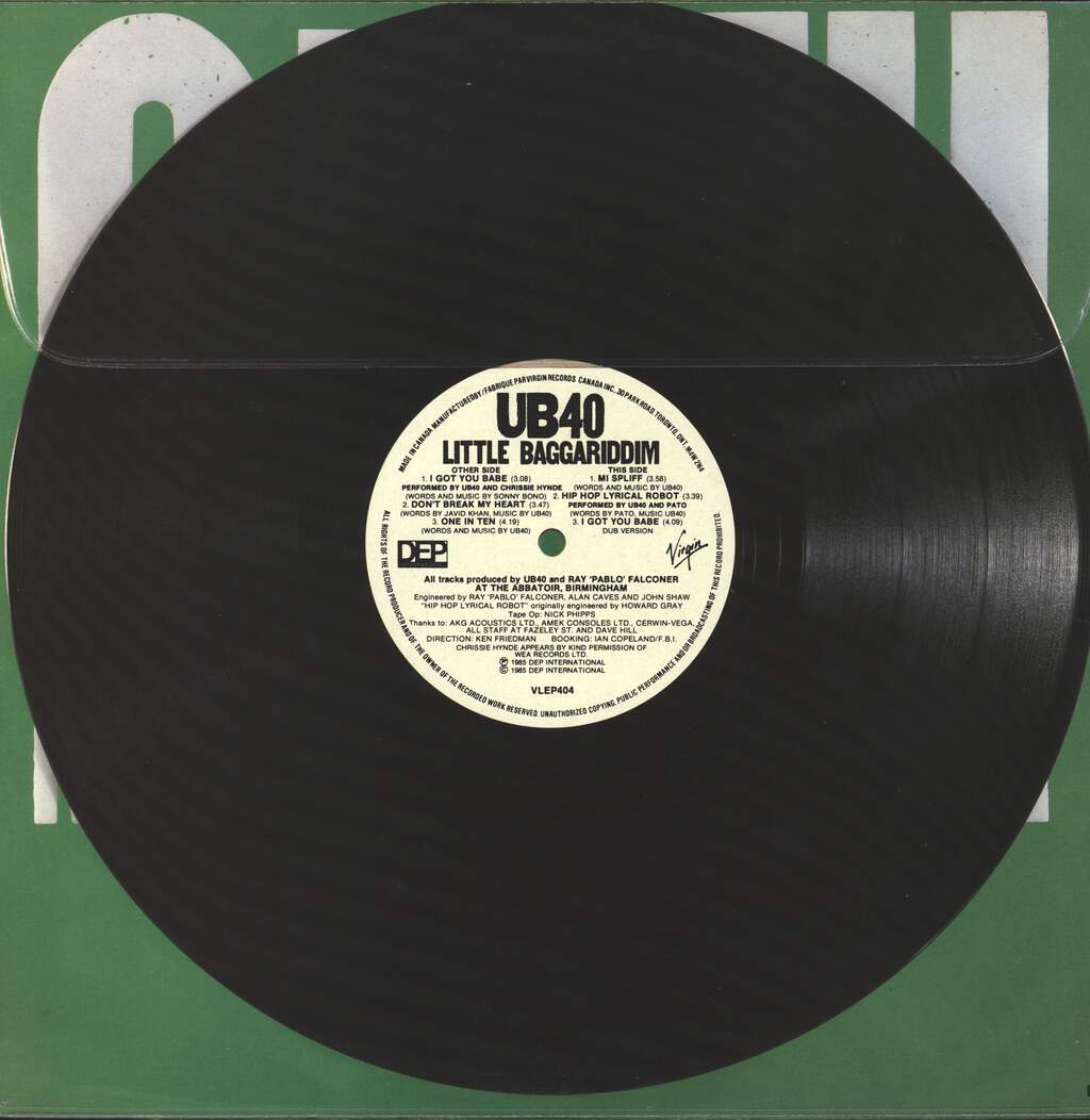 "Ub40: Little Baggariddim, 12"" Maxi Single (Vinyl)"