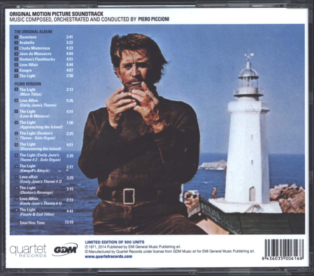 Piero Piccioni: The Light At The Edge Of The World, CD