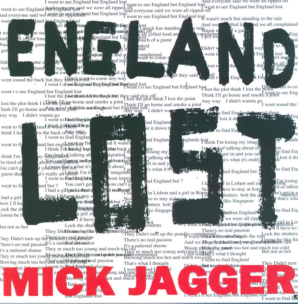 "Mick Jagger: Gotta Get A Grip / England Lost, 12"" Maxi Single (Vinyl)"