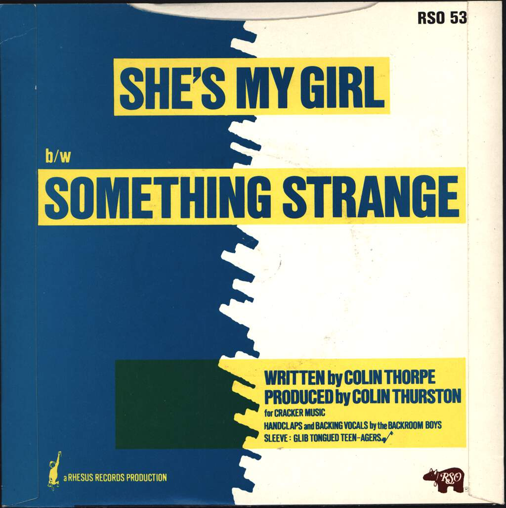 "The Tunes: She's My Girl, 7"" Single (Vinyl)"
