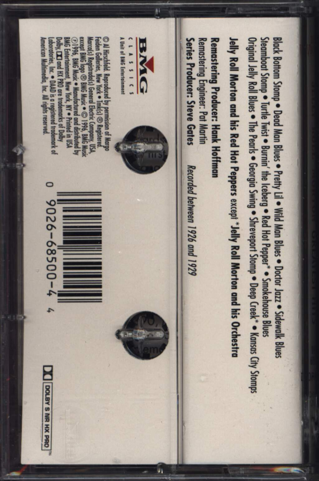 Jelly Roll Morton: Greatest Hits, Compact Cassette