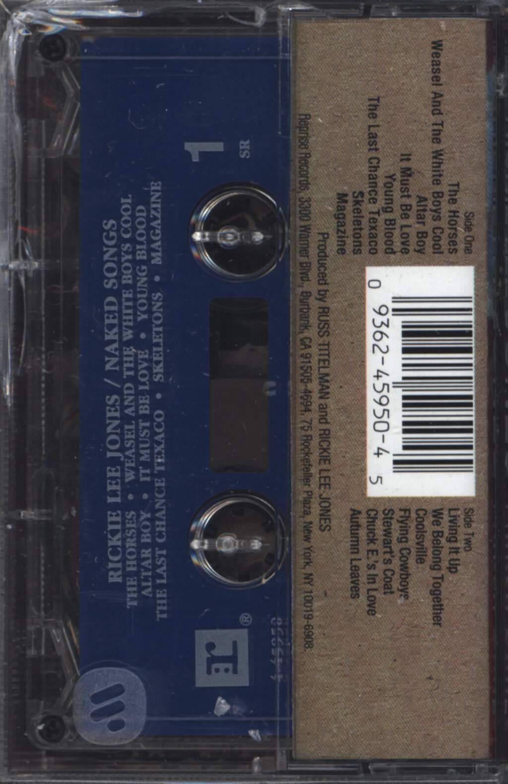 Rickie Lee Jones: Naked Songs, Compact Cassette