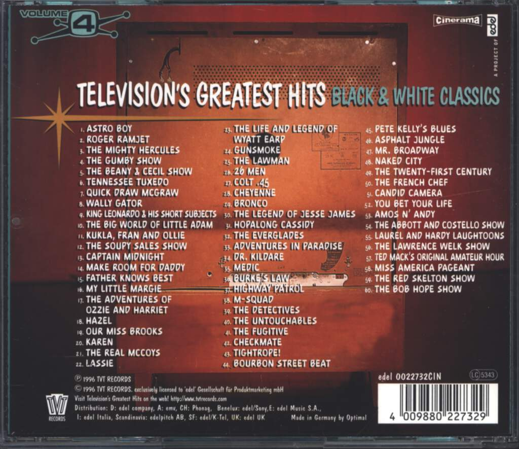 Various: Television's Greatest Hits Volume 4 - Black & White Classics, CD