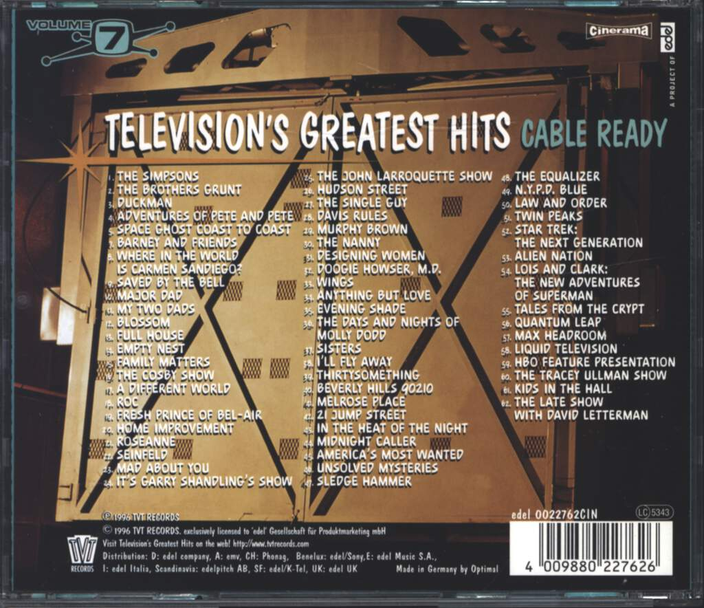 Various: Television's Greatest Hits Volume 7 - Cable Ready, CD