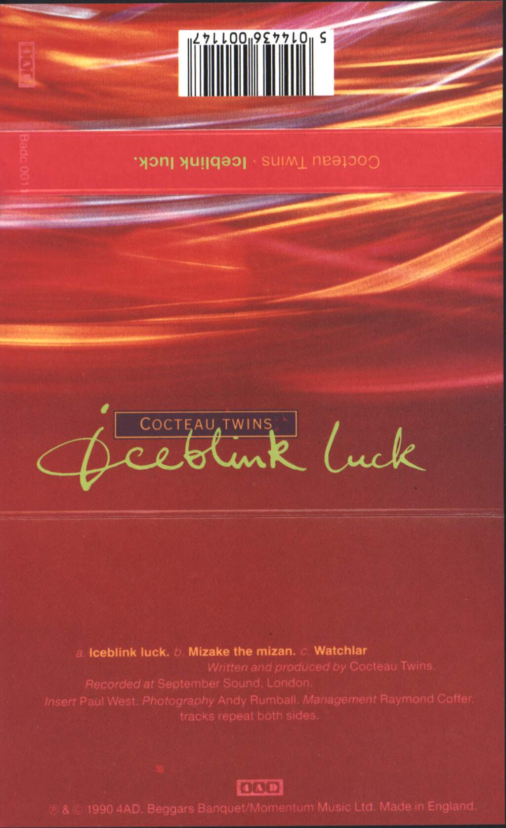 Cocteau Twins Iceblink Luck