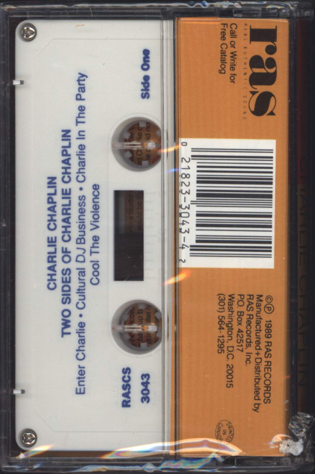 Charlie Chaplin: Two Sides Of Charlie Chaplin, Compact Cassette