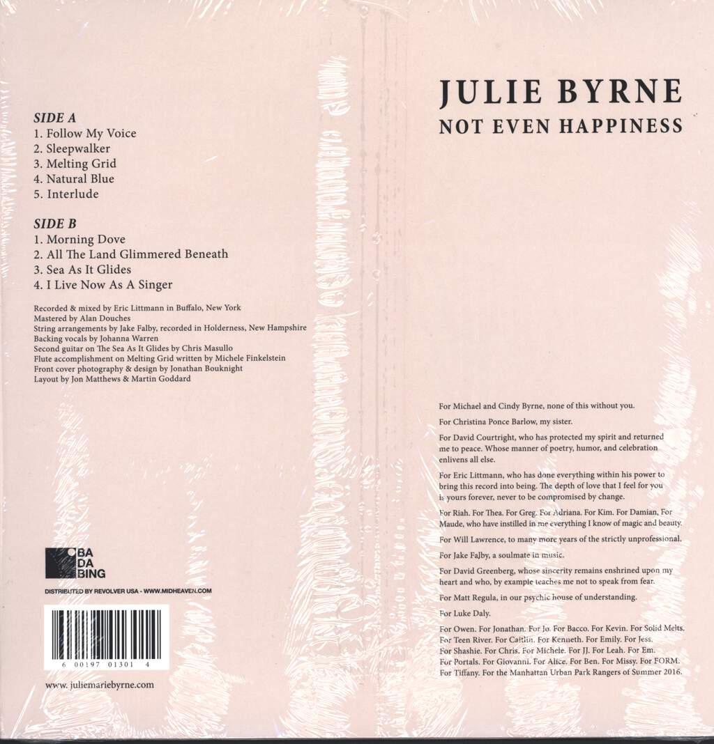 Julie Byrne: Not Even Happiness, LP (Vinyl)