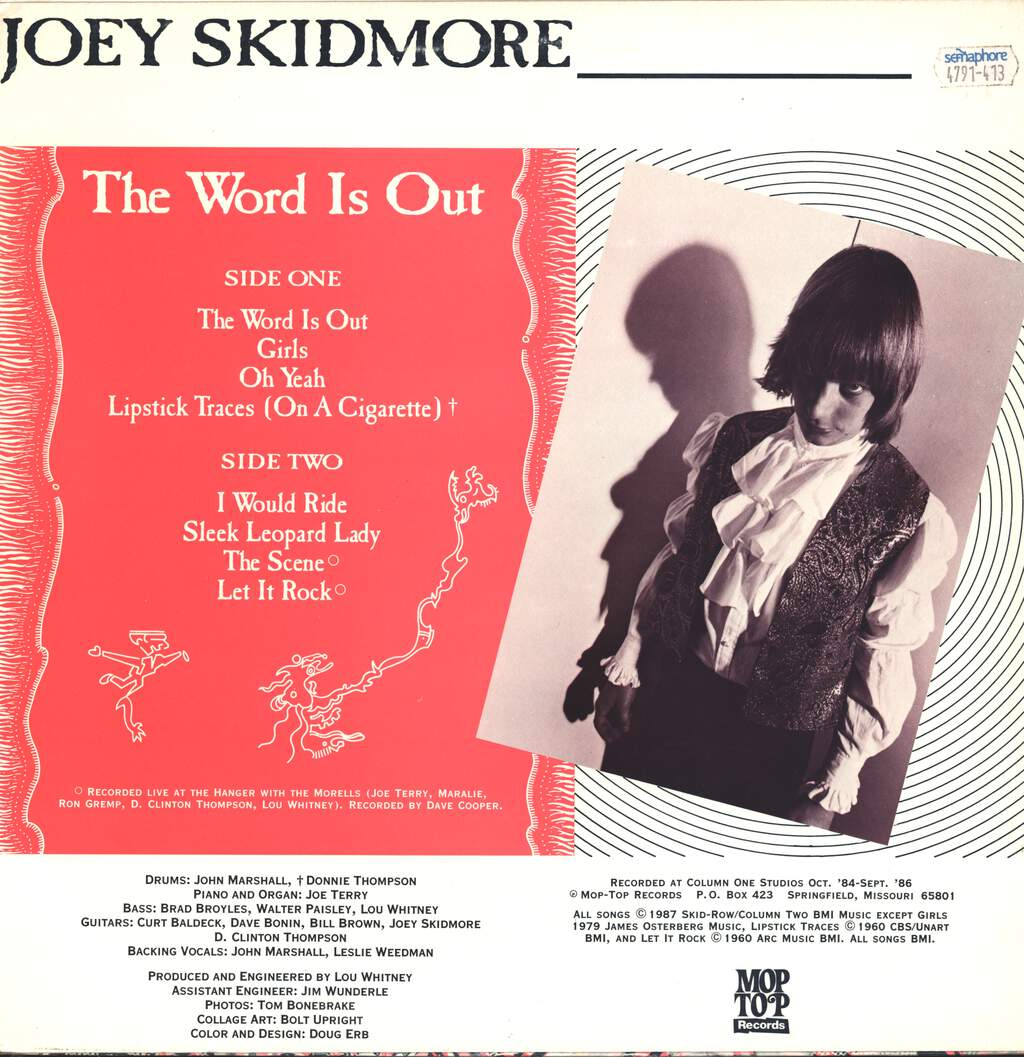 Joey Skidmore: The Word Is Out, LP (Vinyl)